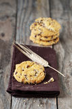 Cookie with chocolate Stock Images