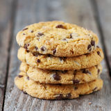 Cookie with chocolate Royalty Free Stock Photography