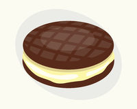 Cookie chocolate homemade breakfast bake cakes  and tasty snack biscuit pastry delicious sweet dessert bakery. Eating vector illustration. Gourmet indulgence Royalty Free Stock Image