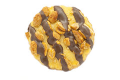 Cookie with chocolate and nuts Royalty Free Stock Image