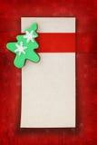 Cookie Christmas card Stock Image