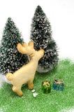 Cookie Christmas Tree Scene Royalty Free Stock Photo