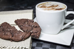 Cookie and Coffee Stock Image