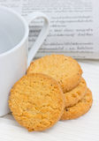 Cookie With Coffee Cup. Stock Photography