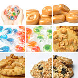 Cookie collage. Beautiful cookie collage made from six photos Stock Image