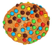 Cookie With Colorful Candies royalty free stock images