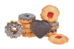 Cookie com as microplaquetas do chocolate e do coco Imagens de Stock