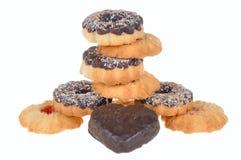Cookie com as microplaquetas do chocolate e do coco Imagem de Stock Royalty Free