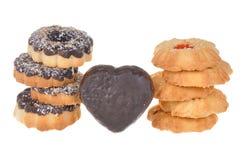 Cookie com as microplaquetas do chocolate e do coco Fotos de Stock