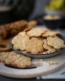 Cookie com testes padrões decorativos Imagem de Stock Royalty Free
