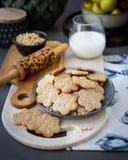 Cookie com testes padrões decorativos Fotografia de Stock