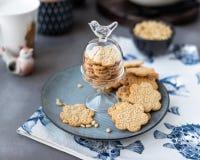 Cookie com testes padrões decorativos Imagens de Stock Royalty Free