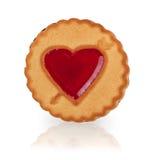 Cookie com um coração da geleia Fotografia de Stock Royalty Free