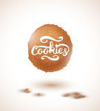 Cookie and Cookies Lettering. Vector Illustration. EPS10 royalty free illustration