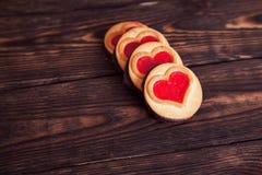 Cookie coração-dada forma quatro Foto de Stock