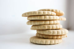 Cookie cracker pile. Photo Royalty Free Stock Image
