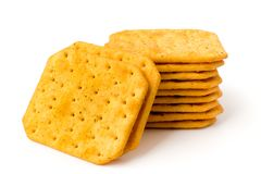 Cookie cracker on a white Stock Photos
