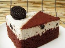 Cookie and cream chocolate cake Stock Image