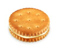 Cookie with cream illustration Stock Images
