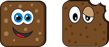 Cookie. Creative design of cookie. Fully editable vector stock illustration