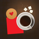 Cookie and cup of coffee. Stock Images