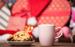 Cookie and cup of coffee Royalty Free Stock Image