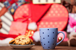 Cookie and cup of coffee Royalty Free Stock Photos