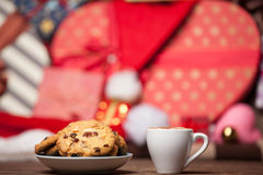 Cookie and cup of coffee Stock Image
