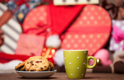 Cookie and cup of coffee Royalty Free Stock Images