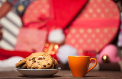 Cookie and cup of coffee Stock Photography