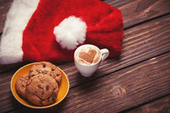 Cookie and cup Stock Photography