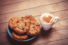 Cookie and cup Royalty Free Stock Image