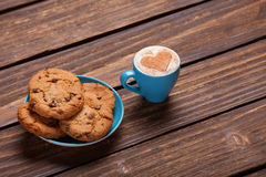 Cookie and cup Royalty Free Stock Images