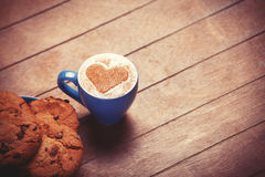 Cookie and cup Stock Image