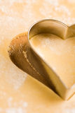 Cookie cutter. Heart-shaped cookie cutter  close up Stock Image