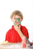 Cookie cutter boy Royalty Free Stock Photos