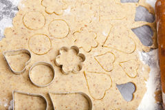 Cookie cutter in different shapes Stock Photography