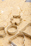 Cookie cutter in different shapes Royalty Free Stock Photography