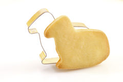 Cookie cutter and Easter cookie Royalty Free Stock Photo