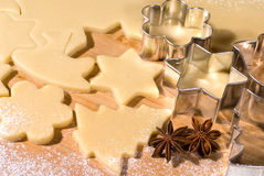 Cookie-cutter forms Stock Image