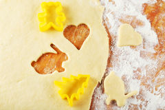 Cookie cutter forms, close up Stock Photography