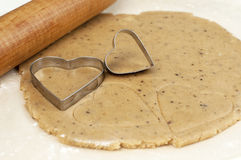 Cookie cutter heart Stock Photography