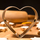 Cookie cutter, heart shape Stock Photo