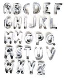 Cookie cutter letters. Isolated on a white background Stock Photos