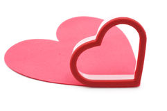 Cookie cutter and pink mat Stock Photography