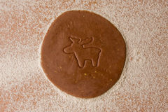 Cookie cutter reindeer Royalty Free Stock Image