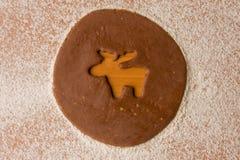 Cookie cutter reindeer Stock Photo