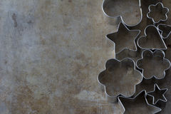 Cookie Cutter Shapes from Above Stock Photography