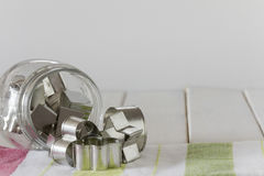 Cookie Cutter Shapes in a Jar with Copy Space - Vertical Stock Image