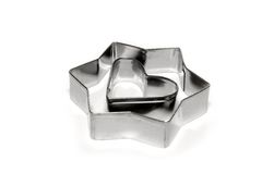 Cookie cutters. Metal cookie cutters Royalty Free Stock Image